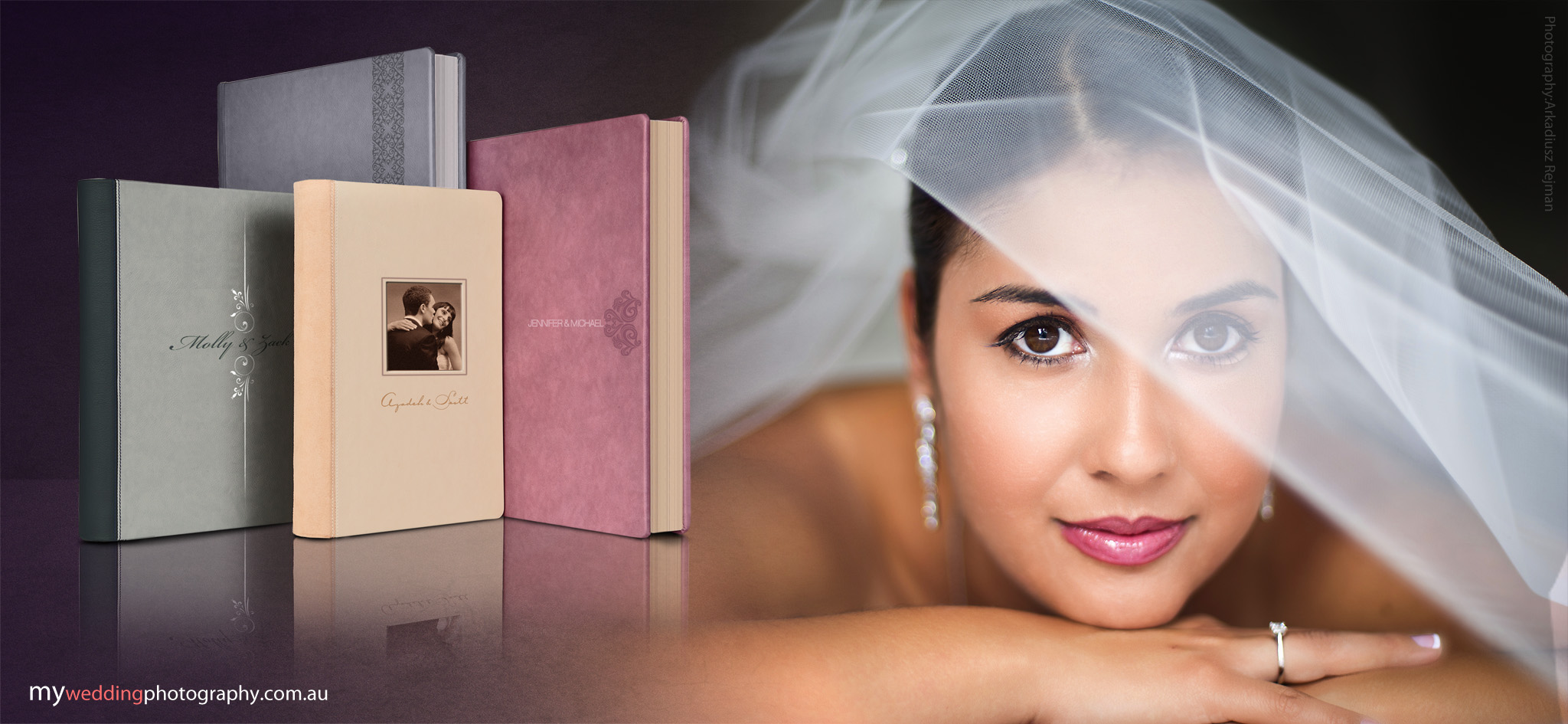 Contemporary and luxourious wedding album range