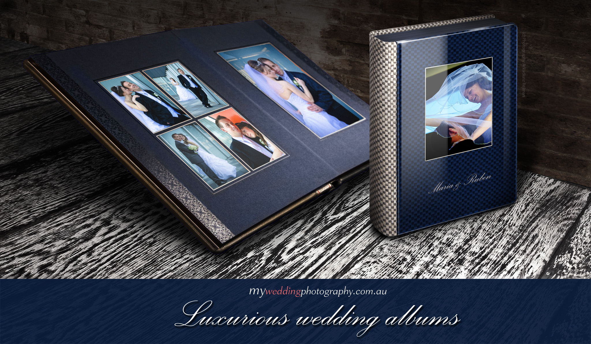 Modern and fashion driven luxourious wedding album style - Italian Wedding Albums