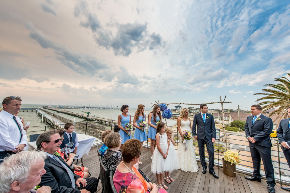 Wedding Ceremony above the beach / Melbourne
