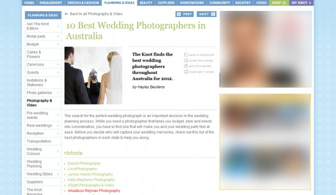 Top Ten Wedding Photographers Melbourne