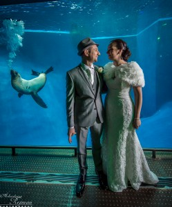 Wedding Portrait with a seal